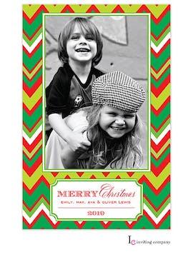Holiday Chevron Holiday Flat Photo Card