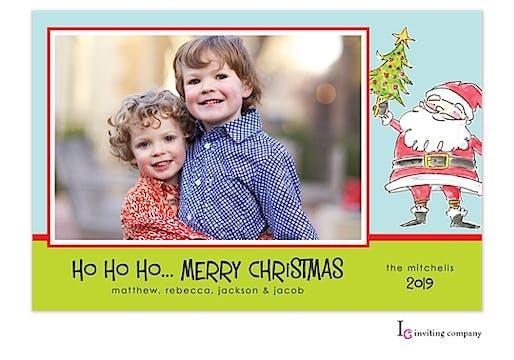 Darling Santa Holiday Flat Photo Card