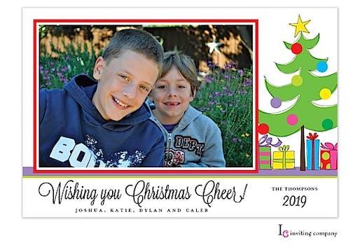 Jolly Tree Holiday Flat Photo Card