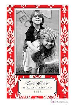 Holiday Ikat Holiday Flat Photo Card