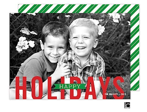 Bold Letters Holiday Flat Photo Card