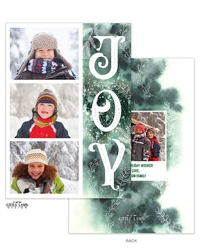 Watercolor Joy Holiday Photo Card
