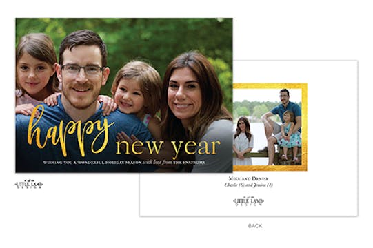 Gleaming New Year Holiday Photo Card