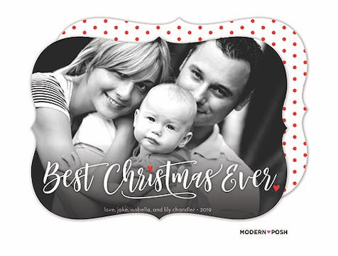 Best Christmas Ever Holiday Photo Card