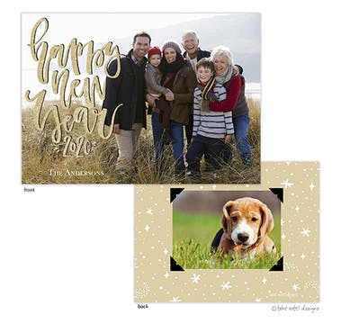 Shimmering Happy New Year Holiday Photo Card