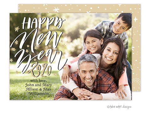 Starry Happy New Year Holiday Photo Card