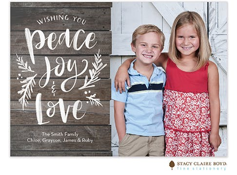 Beach Washed Wishes Holiday Photo Card