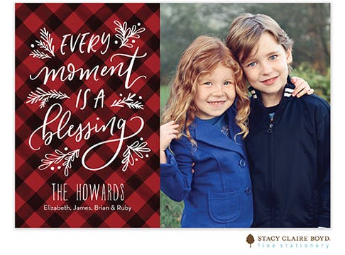 Blessed Moments Holiday Photo Card