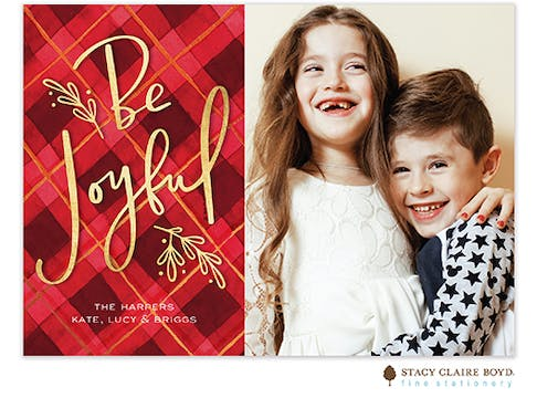 Be Joyful Holiday Photo Card
