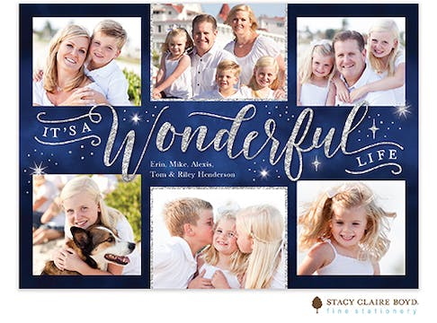 Wonderful Life Holiday Photo Card