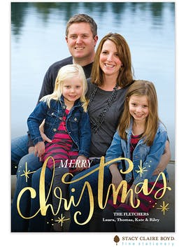 Fun Christmas Holiday Photo Card