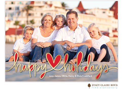 Happy Hearts Holiday Photo Card