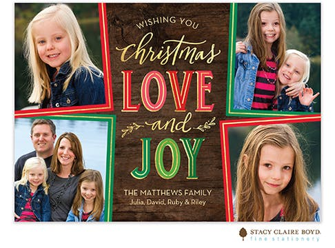 Christmas Love Holiday Photo Card
