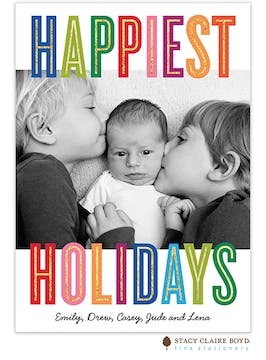 Holiday Colors Holiday Photo Card