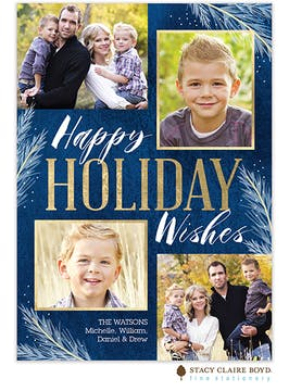 Holiday Wishes Holiday Photo Card