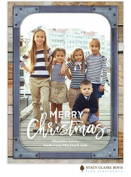 Urban Christmas Holiday Photo Card