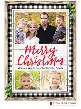 Christmas at Home Holiday Photo Card