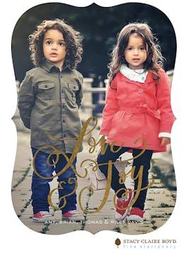 Love & Joy Foil Pressed Holiday Photo Card