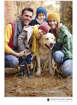 Simply Said Foil Pressed Holiday Photo Card