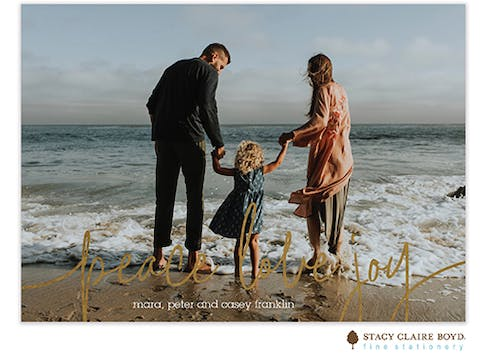Love Lines Foil Pressed Holiday Photo Card