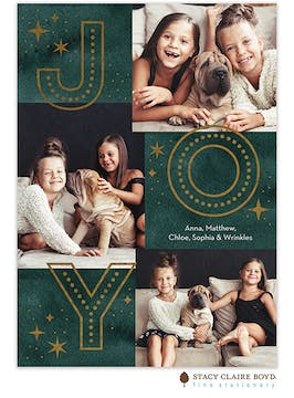 Layered Joy Foil Pressed Holiday Photo Card