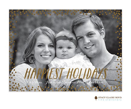 Confetti Holiday Foil Pressed Holiday Photo Card