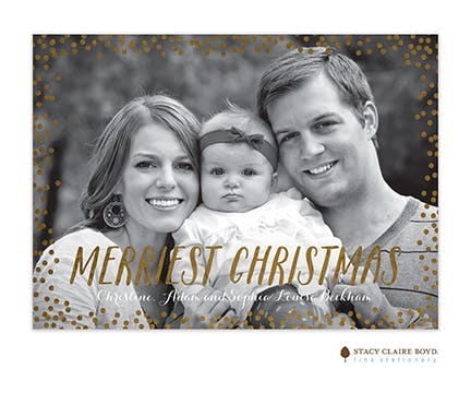 Confetti Christmas Foil Pressed Holiday Photo Card
