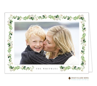 Christmas Vineyard Folded Print & Apply Holiday Photo Card