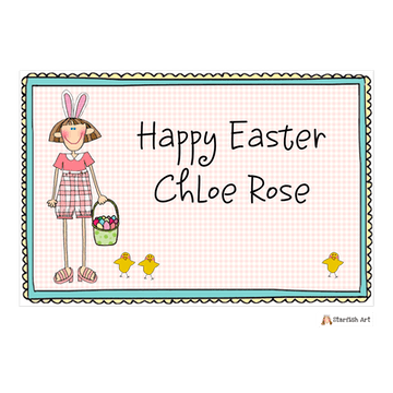 Personalized Character Easter Placemat