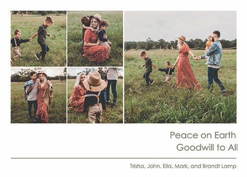 Peace on Earth Multi Digital Photo Card