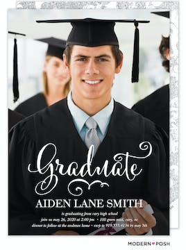 Graduate Script Photo Graduation Card