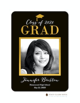 Glimmering Graduate Foil Pressed Photo Card