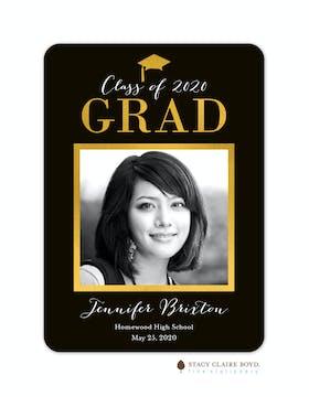 Glimmering Graduate Foil Pressed Photo Card