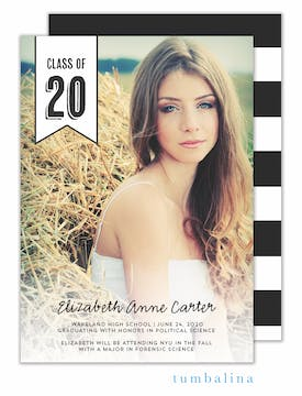 Class Of Flag White Photo Card