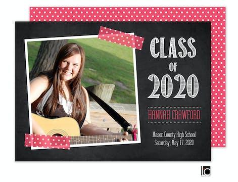 Pink Scrapbook Graduation Announcement