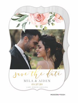 Love Blooms Save The Date-Photo
