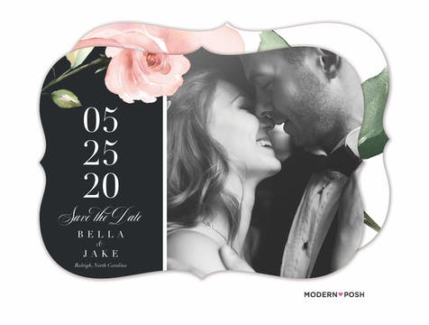 Modern Botanical Save The Date-Photo