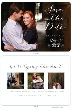 Lettered Love - Photo Trio Photo Save The Date