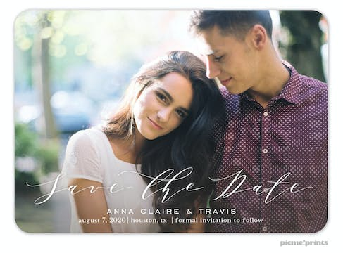 Beautiful Pen Save The Date Photo Card