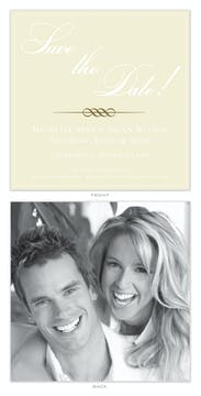 Square Bordered Flat Photo Save The Date