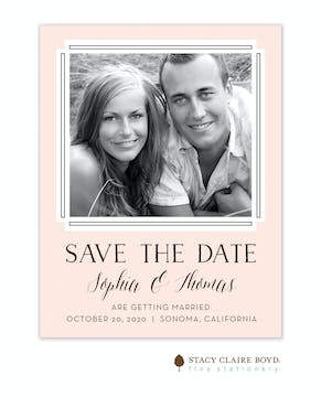 Bold Blush Save the Date