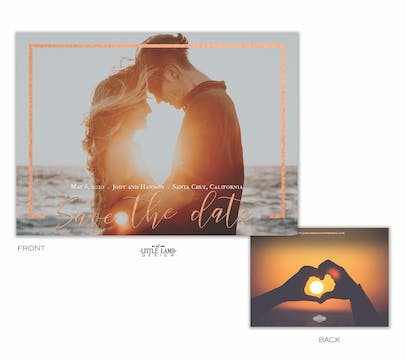 Jewel Frame Save The Date Card