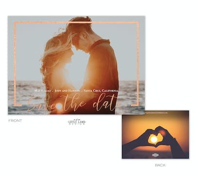 Foil Frame Foil-Pressed Save The Date Photo Card