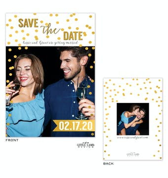 Sparkles Save The Date Card