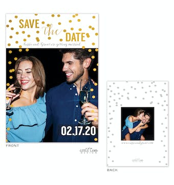 Foil Sparkles Foil-Pressed Save The Date Photo Card
