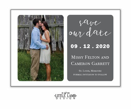 Grey Simplicity Photo Save The Date Magnet