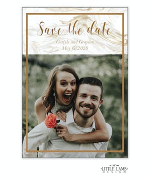 Marbled Save The Date Magnet
