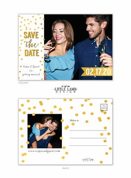 Sparkles Save the Date Postcard