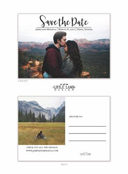 Meant to Be Save the Date Photo Postcard