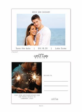 Modern Save the Date Photo Postcard